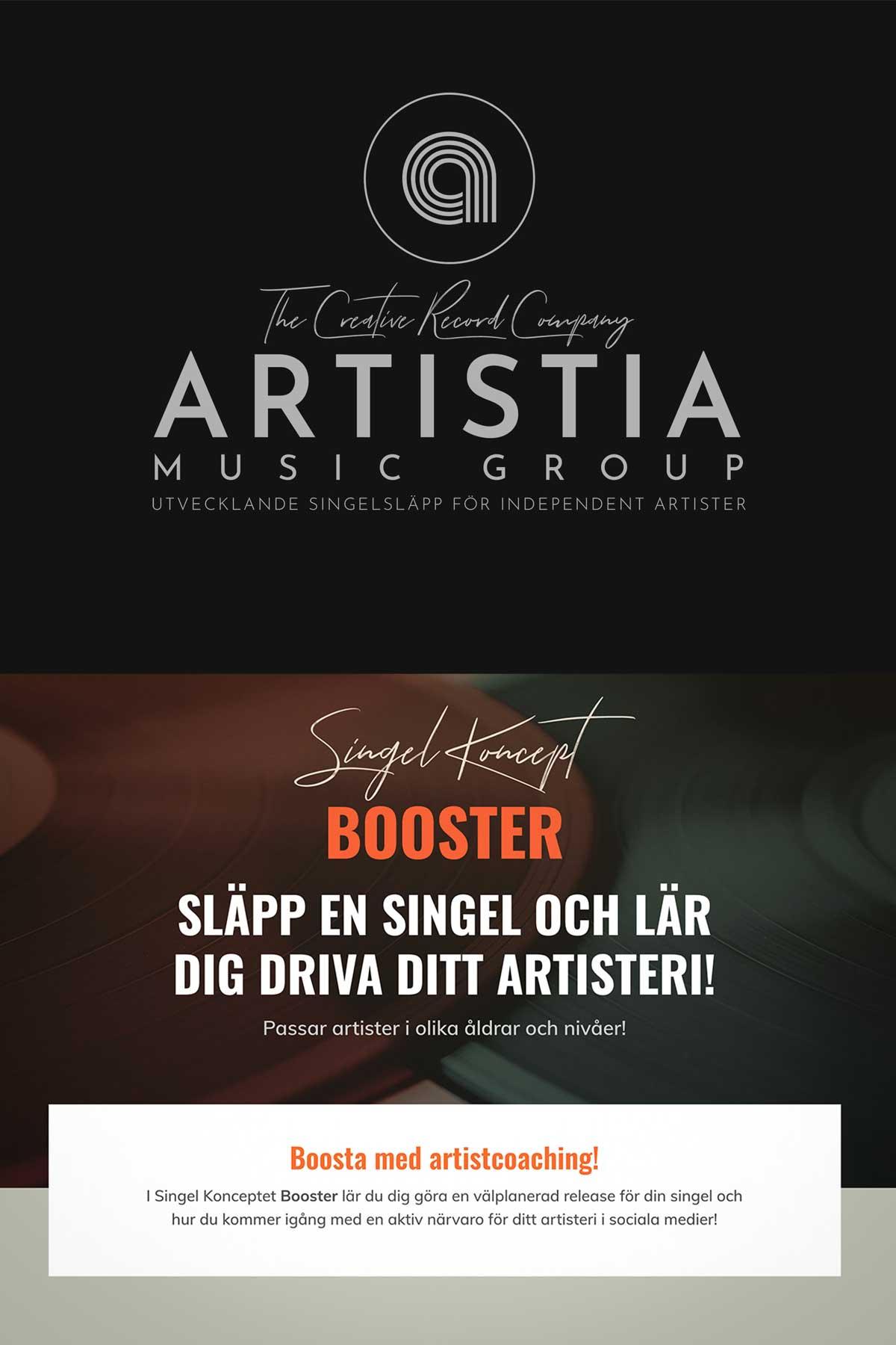 Artistia Music Group Singel Koncept